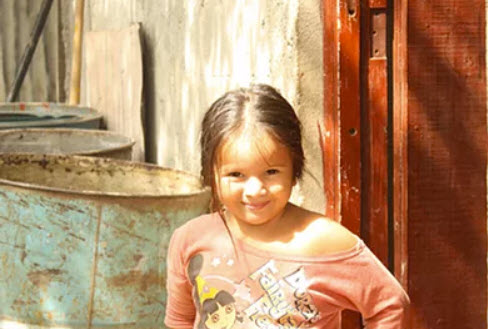 A little girl in Nicragua