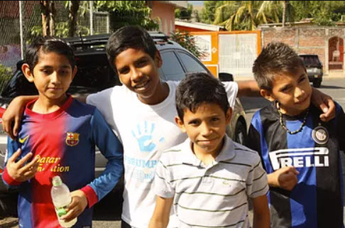 Four children in Nicaragua